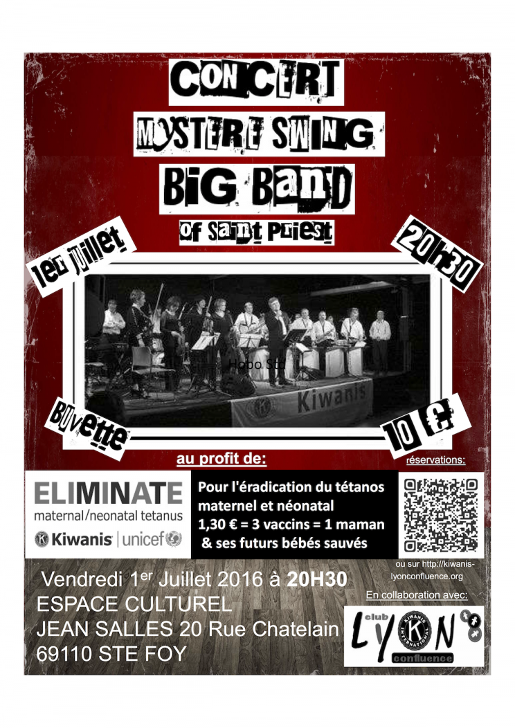 affiche big band Mister swing concert Ste Foy