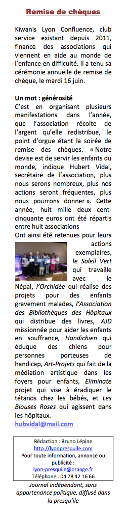 ARTICLE LYON PRESQUILE 2015